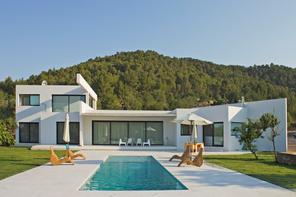 villa minimal for rent Ibiza